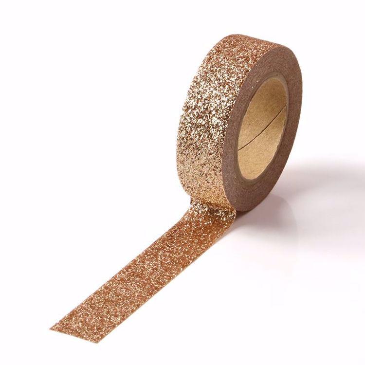 light brown glitter powder tape