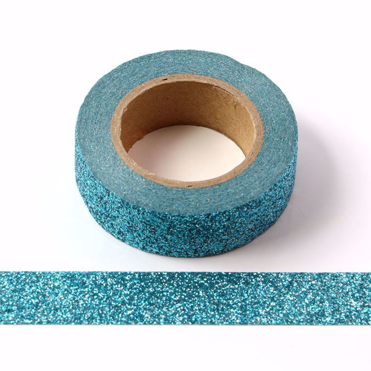 bright blue glitter powder tape