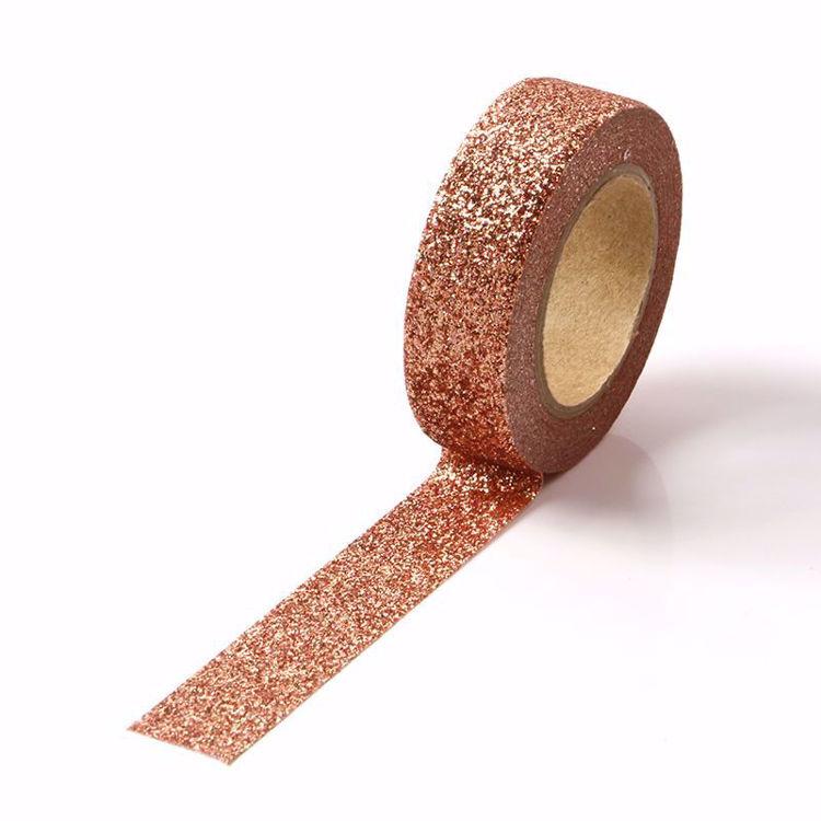 bright brown glitter powder tape