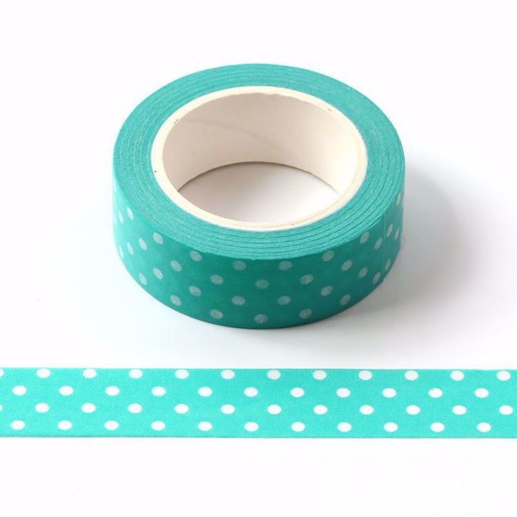 dots mint green washi tape