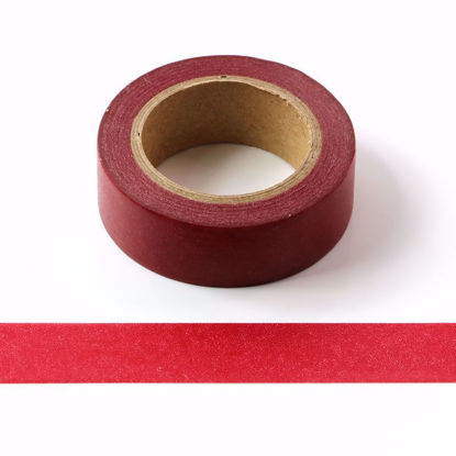 brick-red washi tape