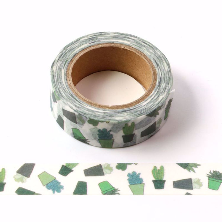 Small potted plant printing washi tape