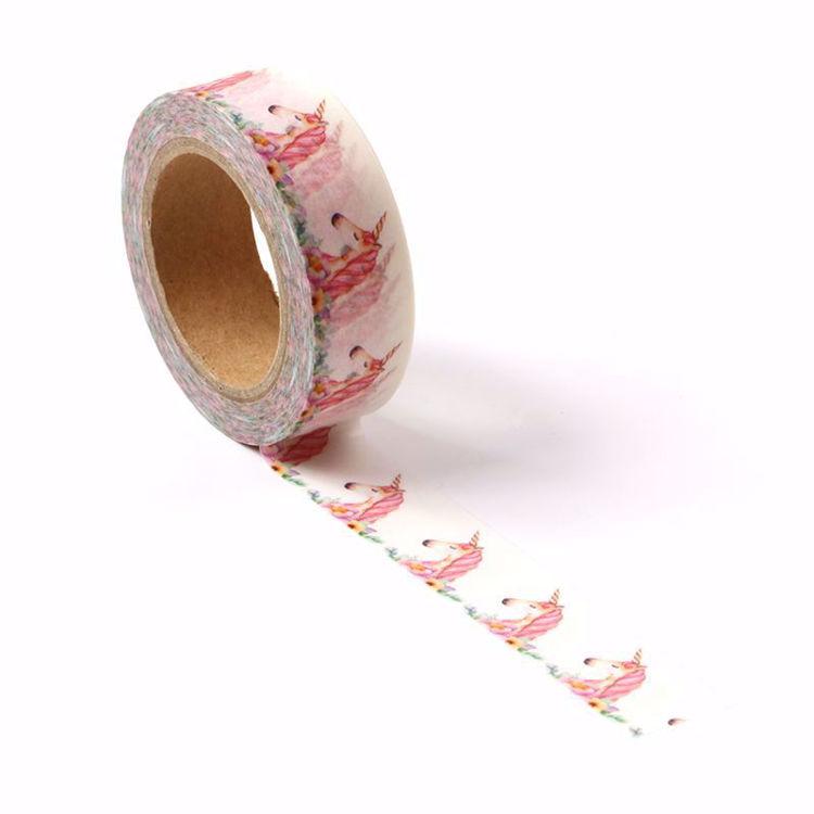 Pink unicorns printing washi tape