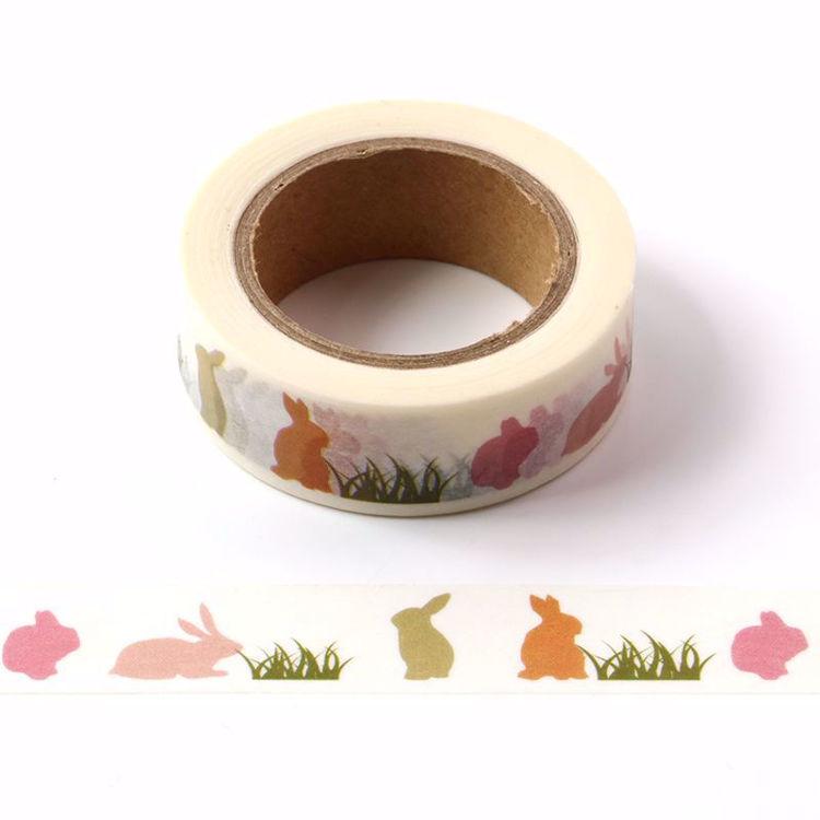 Grass and rabbit printing washi tape