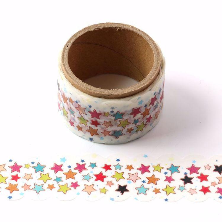 Star printing die cutting washi tape