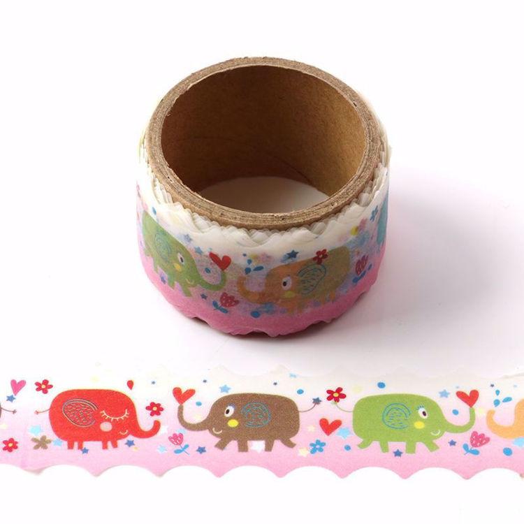 Elephant printing die cutting washi tape