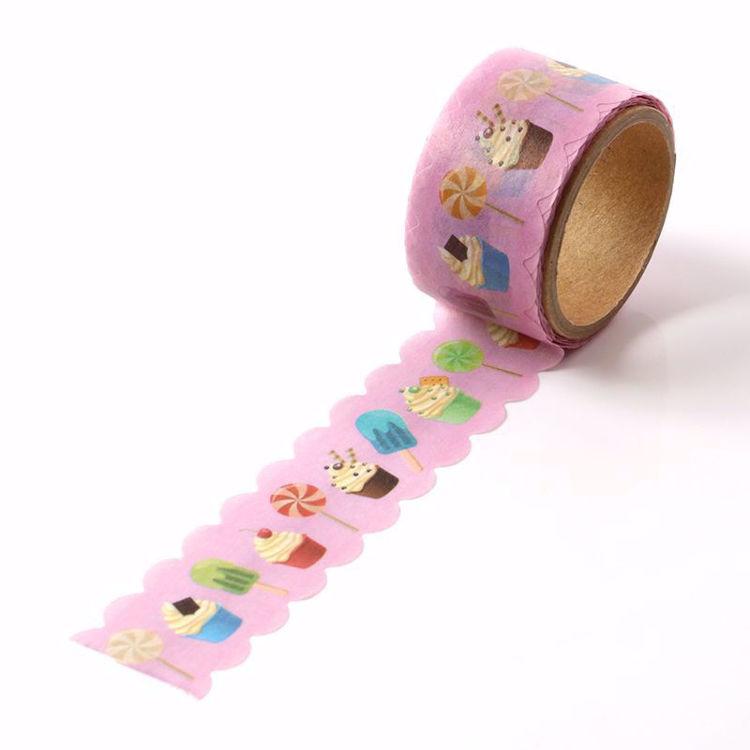 CUPCAKE printing die cut washi tape