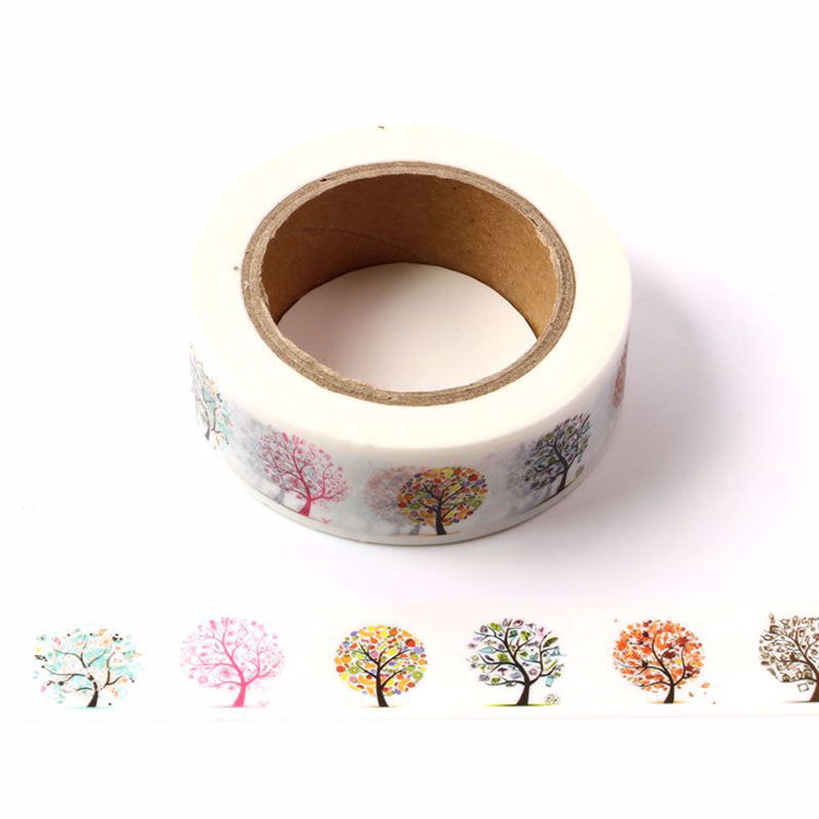 Different tree printing washi tape