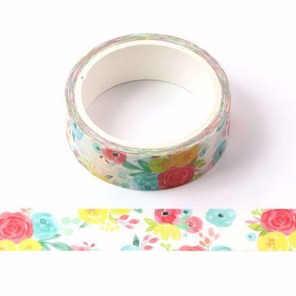 Hot summer flowers printing washi tape