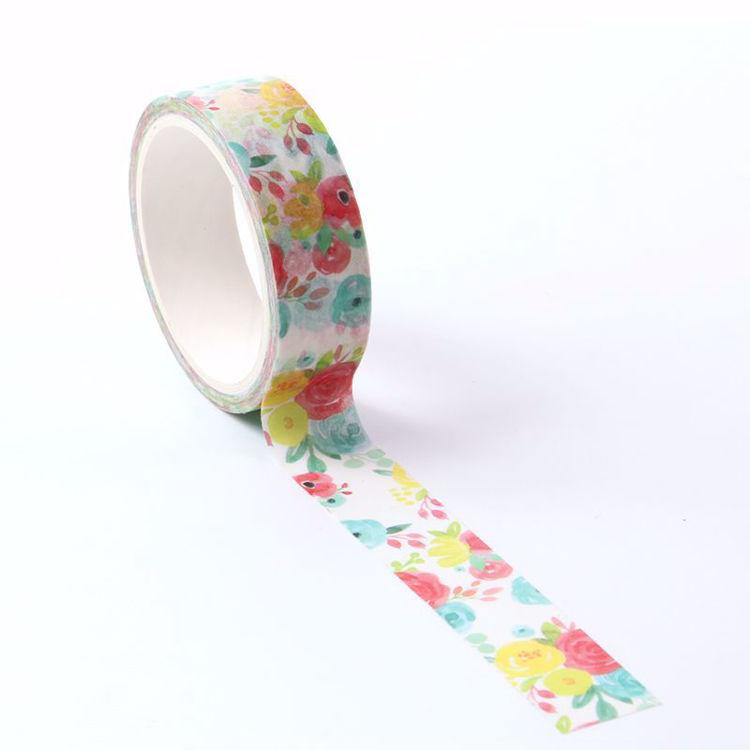 Hot summer flowers printing washi tape