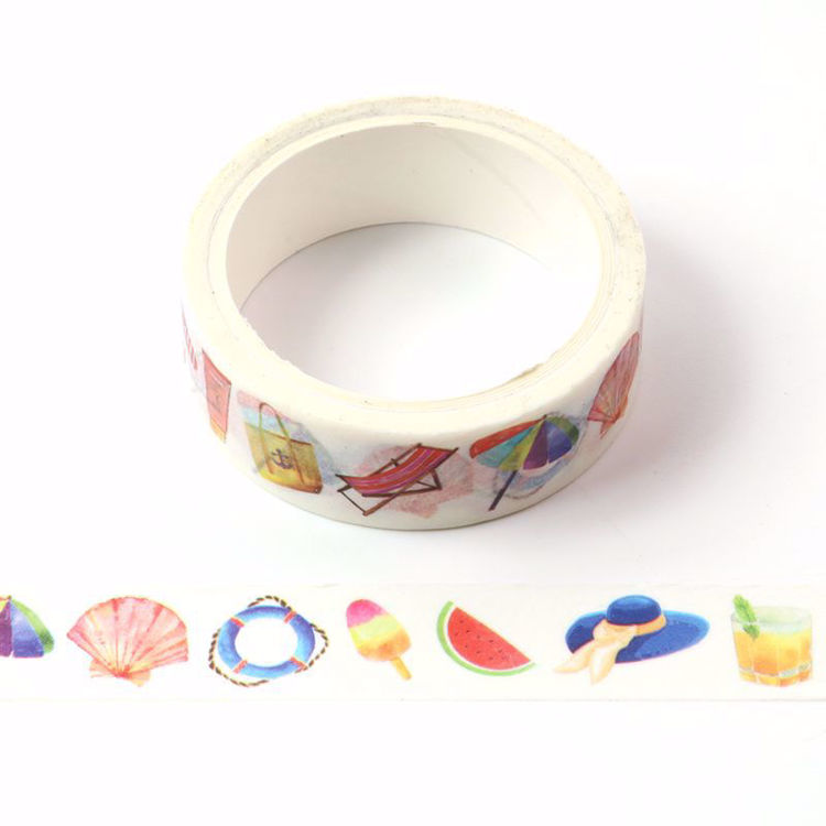 The sea beach printing washi tape