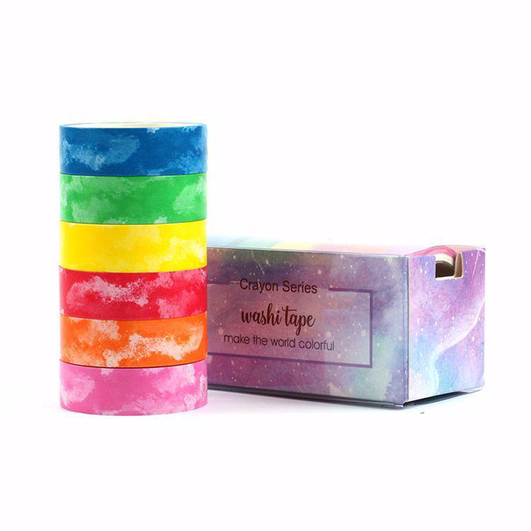 Crayon watercolor washi tape set