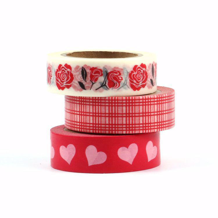 Sweet heat rose washi tape set