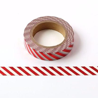 Red stripe foil washi tape