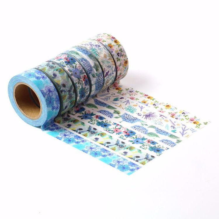 6 rolls flowers printing washi tape