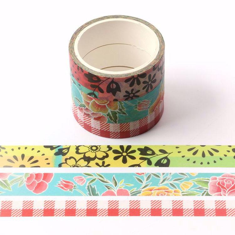 Summer flowers sets printing washi tape