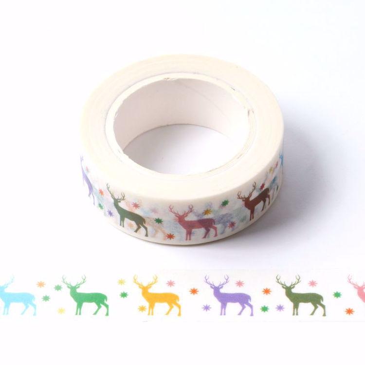 Deer colorful printing washi tape