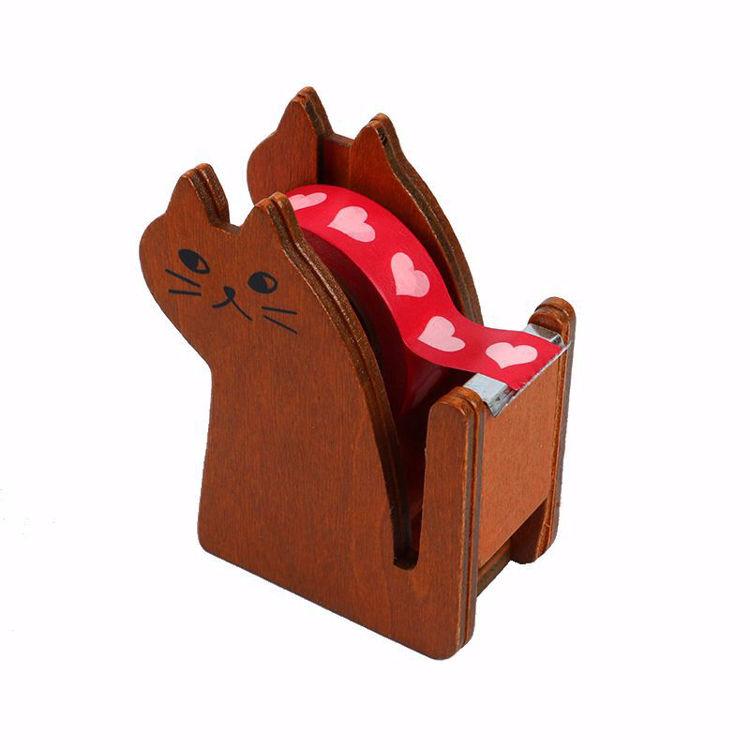 Cat wooden washi tape dispenser