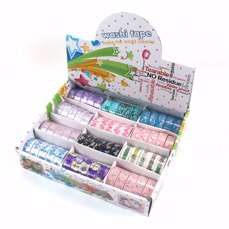 Color box 60 rolls washi tape package
