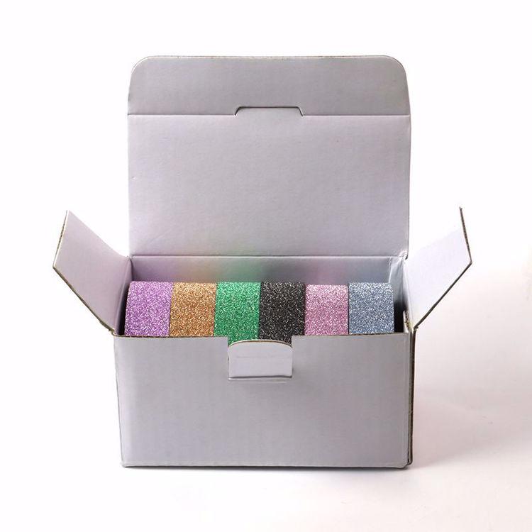 6 rolls glitter washi tape package