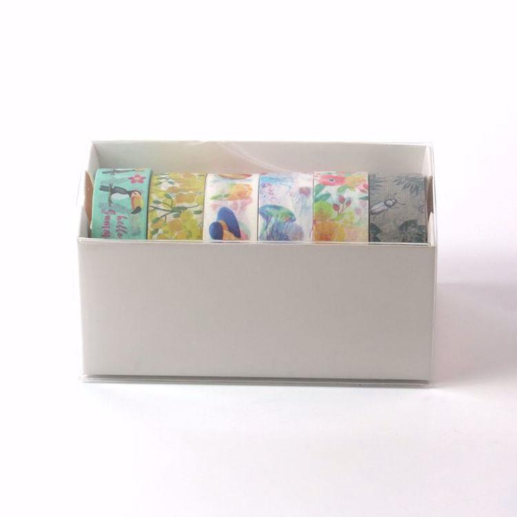 6 rolls washi tape box packing