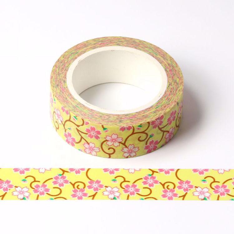 Yellow sakura printing washi tape