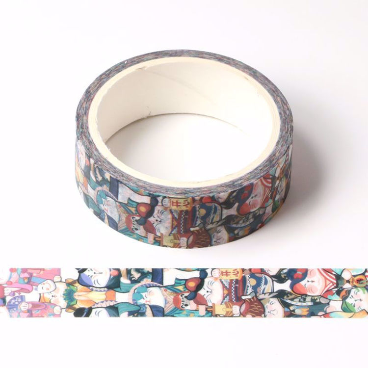Lucky cat printing washi tape