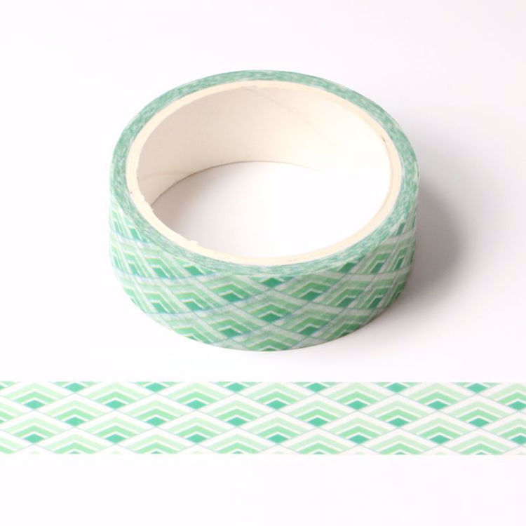 light & bright green printing washi tape