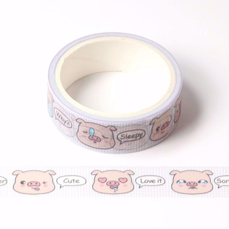 pig emoji printing washi tape