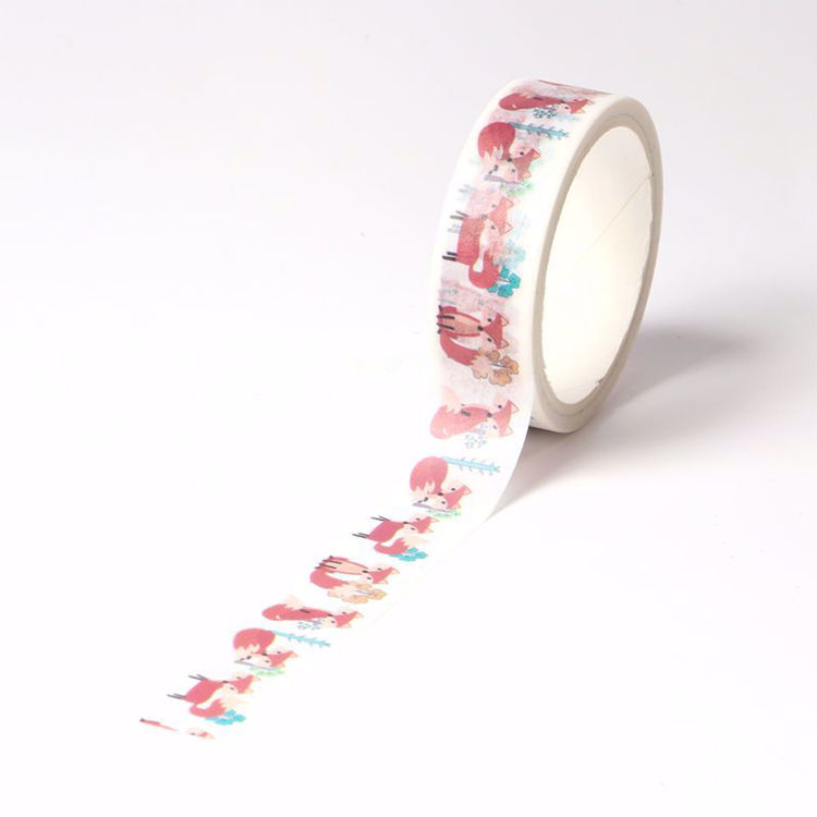 forest fox printing washi tape