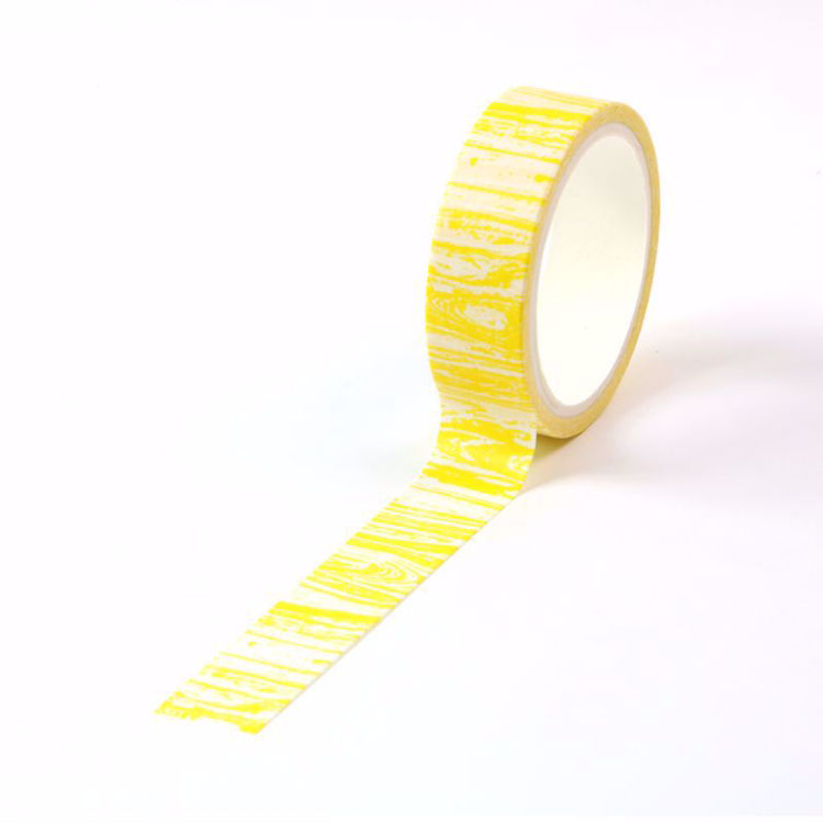 Crayon wood grain yellow printing washi tape