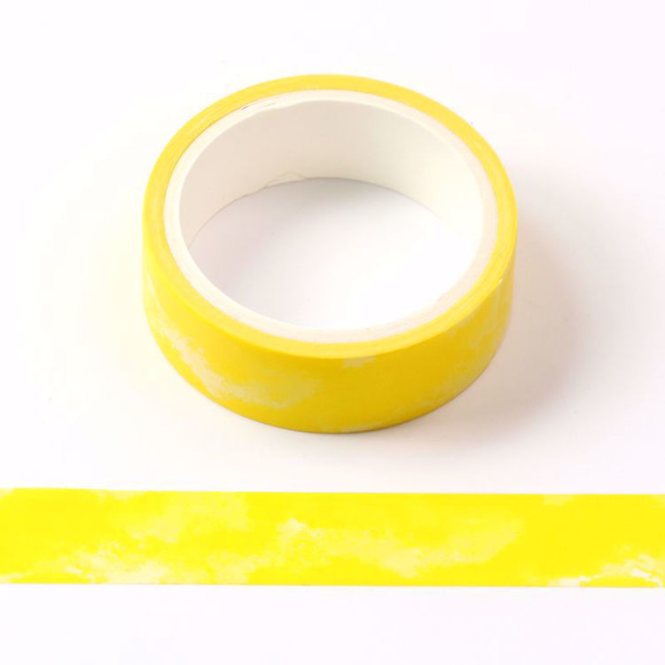 Crayon watercolor yellow printing washi tape