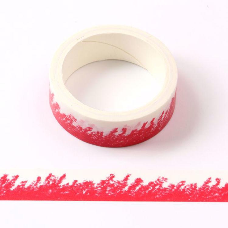 Crayon wheat field red printing washi tape