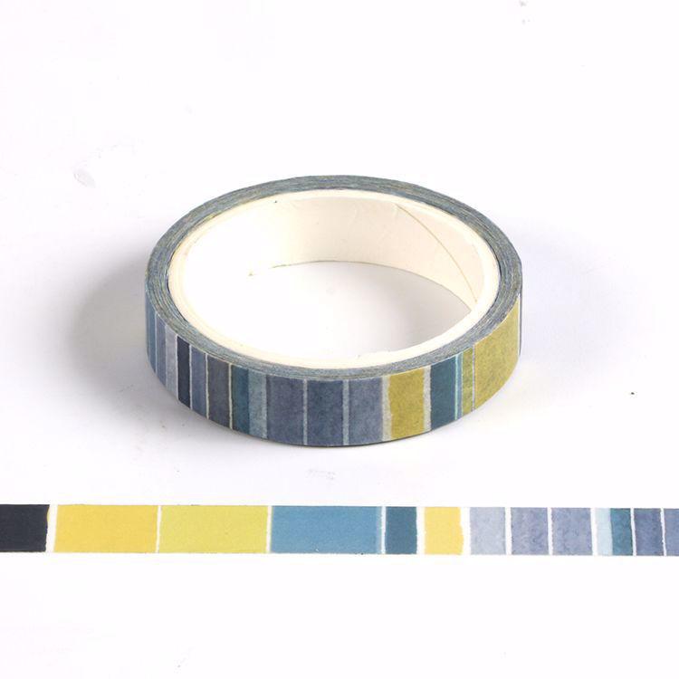 5mm vertical blue printing washi tape