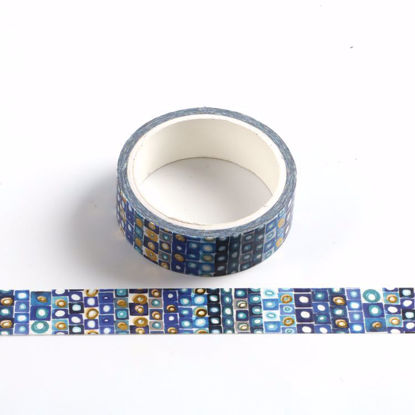Gold foil blue blackground washi tape