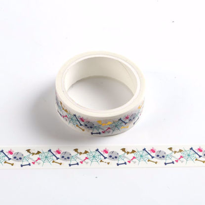 Foil skull halloween design washi tape