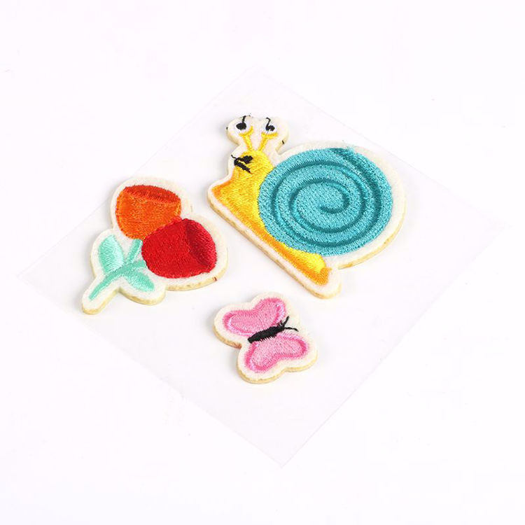 snail embroidery stickers