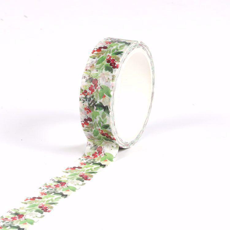 Christmas decoration printing flowers washi tape
