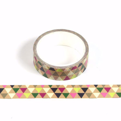 Colored triangle Christmas printing washi tape