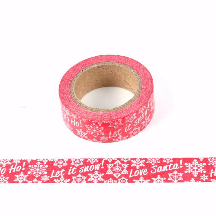 Christmas design snow printing washi tape