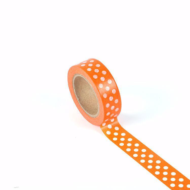 Wave point with orange background washi tape