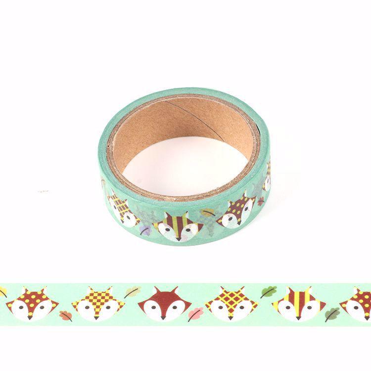 5m Cute fox printing washi tape