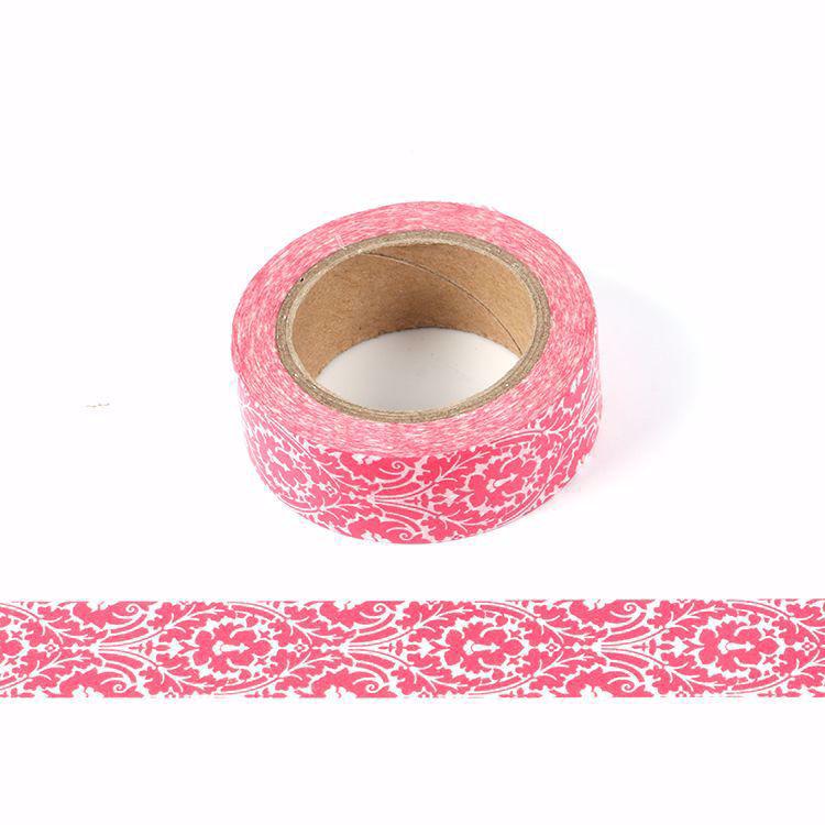 Violet flowers printing washi tape
