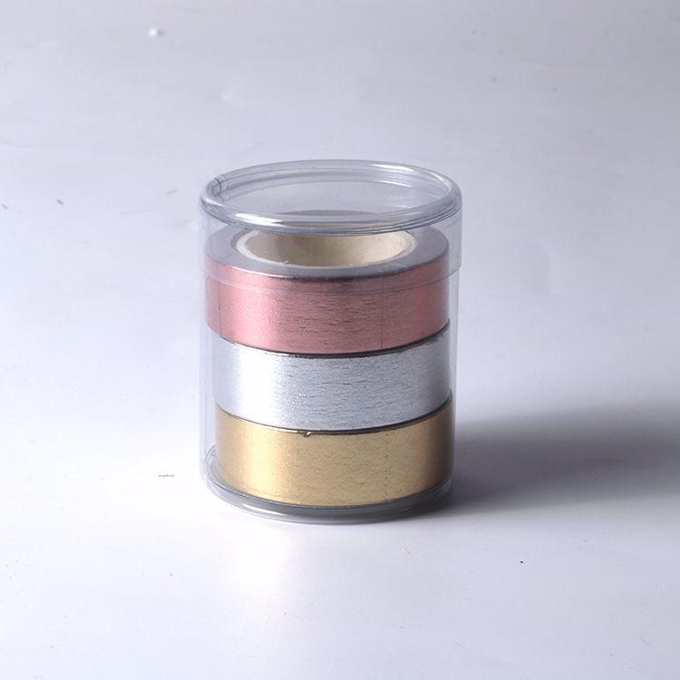 3 rolls metal foil washi tape sets