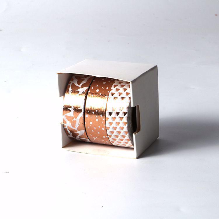 3 rolls gold foil washi tape sets