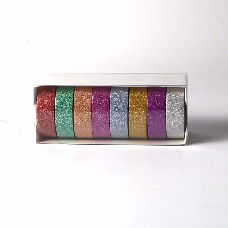 8 rolls glitter washi tape sets