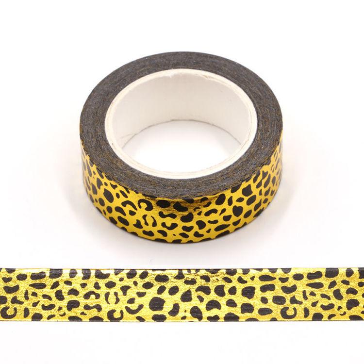 Leopard print gold foil washi tape