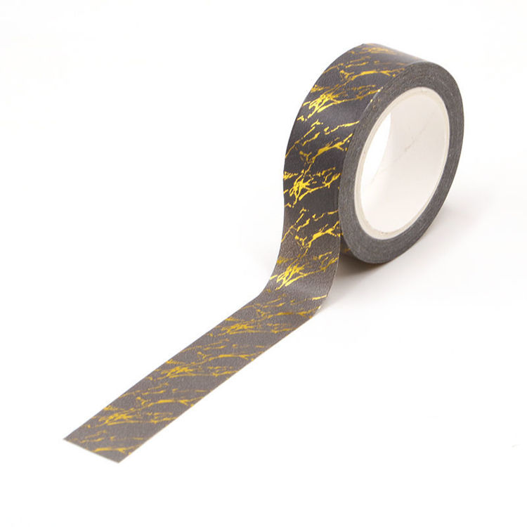 MARBLE print gold foil washi tape