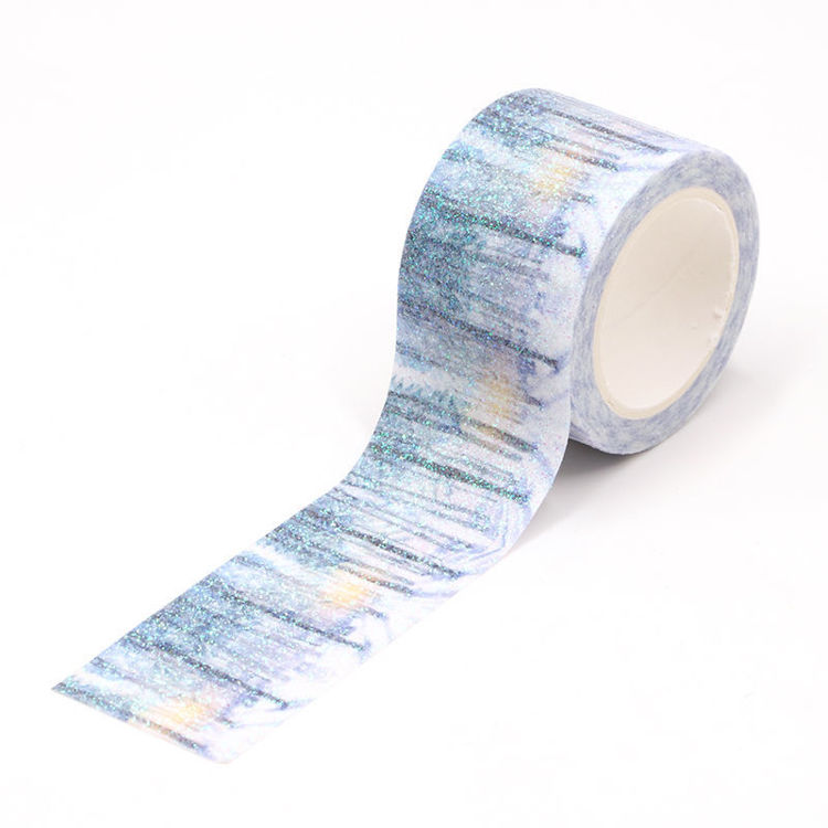 30mm The forest snow sparkle washi tape