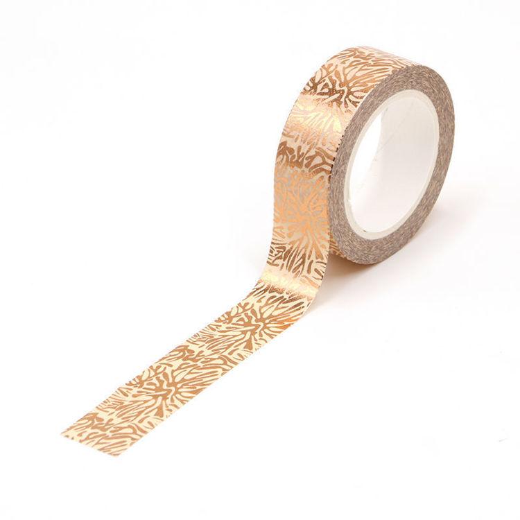 Snow flower gold foil washi tape